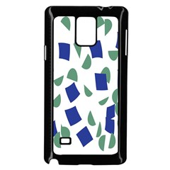Scatter Geometric Brush Blue Gray Samsung Galaxy Note 4 Case (black) by Mariart