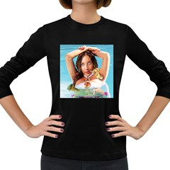 Woman In Pool Women s Long Sleeve Dark T Shirts by RakeClag