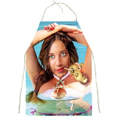 Woman In Pool Full Print Aprons by RakeClag
