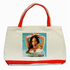 Woman In Pool Classic Tote Bag (red) by RakeClag