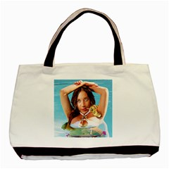 Woman In Pool Basic Tote Bag (two Sides) by RakeClag