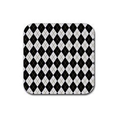 Plaid Pattern Rubber Square Coaster (4 Pack)  by Valentinaart