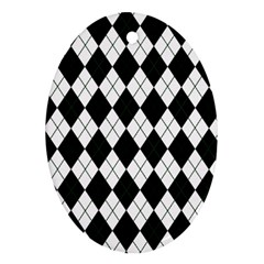 Plaid Pattern Ornament (oval) by Valentinaart