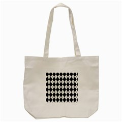 Plaid Pattern Tote Bag (cream) by Valentinaart