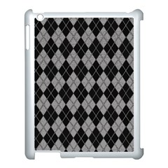 Plaid Pattern Apple Ipad 3/4 Case (white)