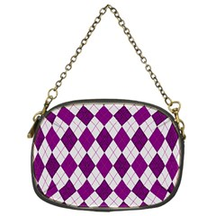 Plaid Pattern Chain Purses (one Side)  by Valentinaart