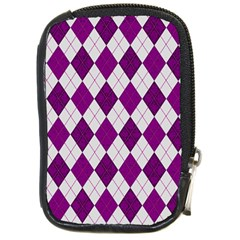 Plaid Pattern Compact Camera Cases by Valentinaart