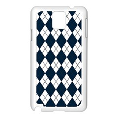Plaid Pattern Samsung Galaxy Note 3 N9005 Case (white)