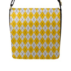 Plaid Pattern Flap Messenger Bag (l)