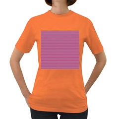 Lines Pattern Women s Dark T Shirt