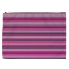 Lines Pattern Cosmetic Bag (xxl)  by Valentinaart