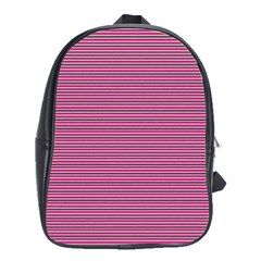 Lines Pattern School Bags (xl)  by Valentinaart