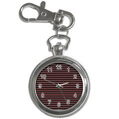 Lines Pattern Key Chain Watches by Valentinaart