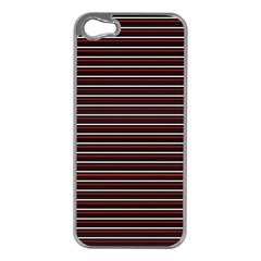 Lines Pattern Apple Iphone 5 Case (silver) by Valentinaart
