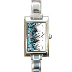 Fire Rectangle Italian Charm Watch by Valentinaart