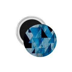 Plane And Solid Geometry Charming Plaid Triangle Blue Black 1 75  Magnets by Mariart