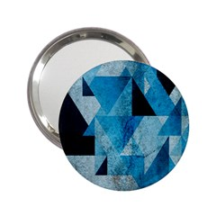 Plane And Solid Geometry Charming Plaid Triangle Blue Black 2 25  Handbag Mirrors by Mariart