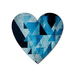 Plane And Solid Geometry Charming Plaid Triangle Blue Black Heart Magnet by Mariart