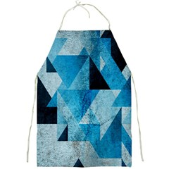 Plane And Solid Geometry Charming Plaid Triangle Blue Black Full Print Aprons by Mariart