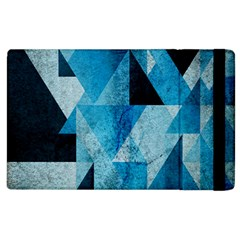 Plane And Solid Geometry Charming Plaid Triangle Blue Black Apple Ipad 2 Flip Case by Mariart