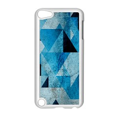 Plane And Solid Geometry Charming Plaid Triangle Blue Black Apple Ipod Touch 5 Case (white) by Mariart