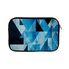 Plane And Solid Geometry Charming Plaid Triangle Blue Black Apple Ipad Mini Zipper Cases by Mariart