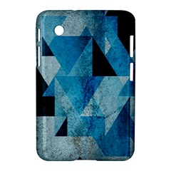 Plane And Solid Geometry Charming Plaid Triangle Blue Black Samsung Galaxy Tab 2 (7 ) P3100 Hardshell Case  by Mariart