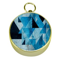 Plane And Solid Geometry Charming Plaid Triangle Blue Black Gold Compasses