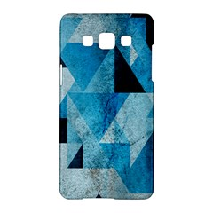 Plane And Solid Geometry Charming Plaid Triangle Blue Black Samsung Galaxy A5 Hardshell Case  by Mariart