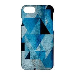 Plane And Solid Geometry Charming Plaid Triangle Blue Black Apple Iphone 7 Hardshell Case by Mariart