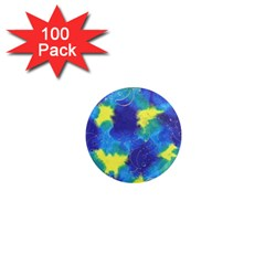 Mulberry Paper Gift Moon Star 1  Mini Magnets (100 Pack)