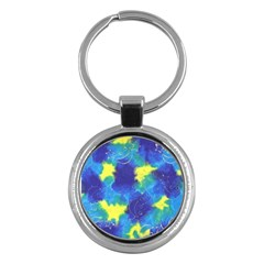 Mulberry Paper Gift Moon Star Key Chains (round)  by Mariart