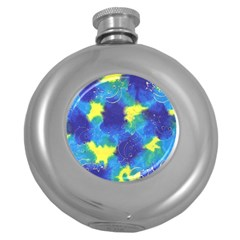 Mulberry Paper Gift Moon Star Round Hip Flask (5 Oz) by Mariart