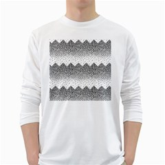 Original Plaid Chevron Wave White Long Sleeve T-shirts by Mariart