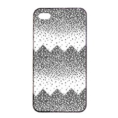 Original Plaid Chevron Wave Apple Iphone 4/4s Seamless Case (black) by Mariart