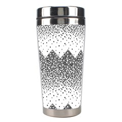 Original Plaid Chevron Wave Stainless Steel Travel Tumblers by Mariart