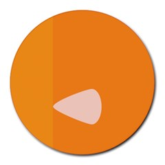 Screen Shot Circle Animations Orange White Line Color Round Mousepads by Mariart