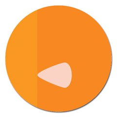 Screen Shot Circle Animations Orange White Line Color Magnet 5  (round) by Mariart