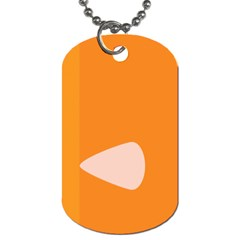 Screen Shot Circle Animations Orange White Line Color Dog Tag (two Sides) by Mariart