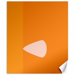 Screen Shot Circle Animations Orange White Line Color Canvas 20  X 24   by Mariart