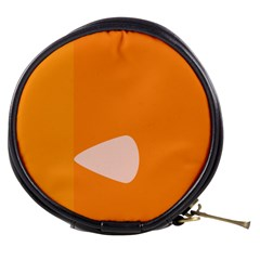 Screen Shot Circle Animations Orange White Line Color Mini Makeup Bags by Mariart