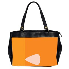 Screen Shot Circle Animations Orange White Line Color Office Handbags (2 Sides)  by Mariart