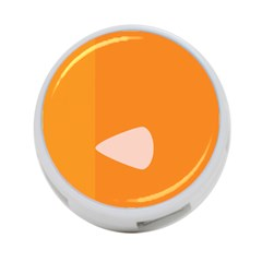 Screen Shot Circle Animations Orange White Line Color 4 Port Usb Hub (two Sides)  by Mariart