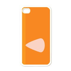 Screen Shot Circle Animations Orange White Line Color Apple Iphone 4 Case (white) by Mariart