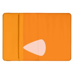 Screen Shot Circle Animations Orange White Line Color Samsung Galaxy Tab 8 9  P7300 Flip Case by Mariart