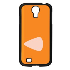 Screen Shot Circle Animations Orange White Line Color Samsung Galaxy S4 I9500/ I9505 Case (black) by Mariart