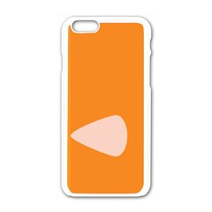 Screen Shot Circle Animations Orange White Line Color Apple Iphone 6/6s White Enamel Case by Mariart