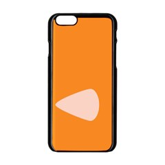 Screen Shot Circle Animations Orange White Line Color Apple Iphone 6/6s Black Enamel Case by Mariart