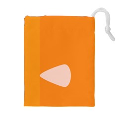 Screen Shot Circle Animations Orange White Line Color Drawstring Pouches (extra Large)