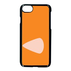 Screen Shot Circle Animations Orange White Line Color Apple Iphone 7 Seamless Case (black) by Mariart
